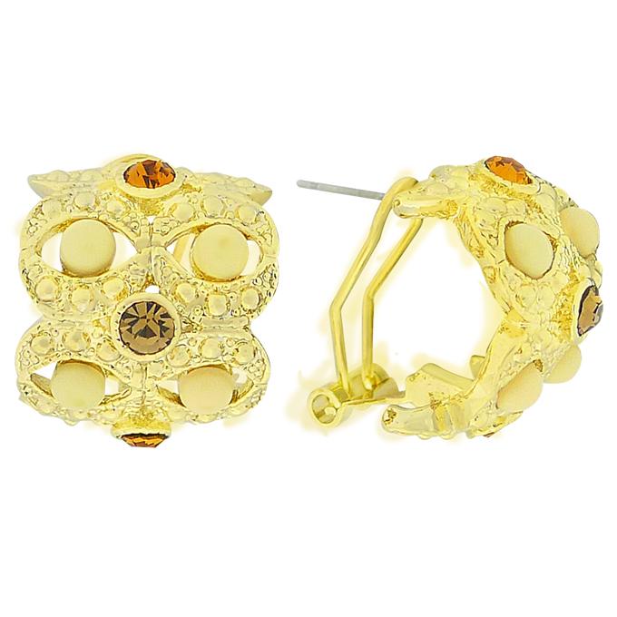Серьги Гармония под золото с кристаллами Swarovski. Оригинал США (S-001)