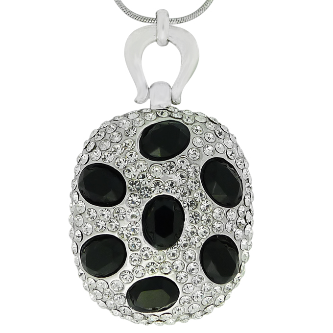Кулон Космос под серебро с кристаллами Swarovski. Италия (оригинал) (K-014)
