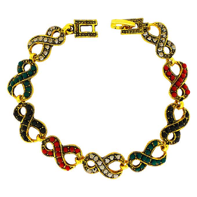 Браслет Бесконечность под золото с кристаллами Сваровски. Оригинал США (BR-019)