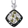 Кулон Шарм под серебро с перламутром, жемчугом и кристаллами Swarovski. Италия оригинал (K-021)