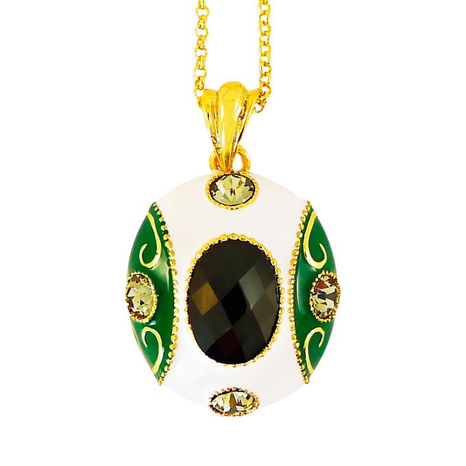 Кулон Императрица под золото с кристаллами Swarovski. Италия оригинал (K-017)