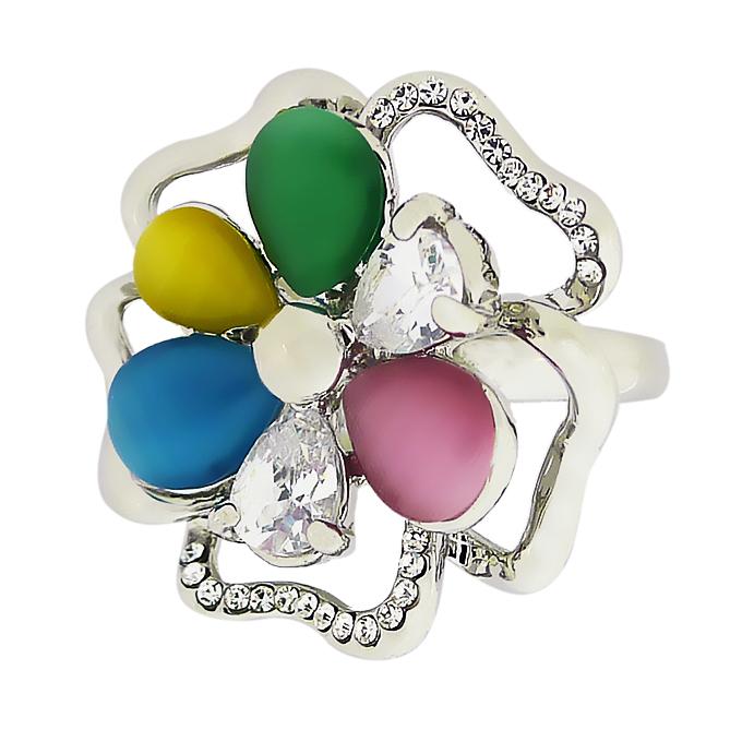 Кольцо под золото с кристаллами Сваровски. США оригинал (KО-038)