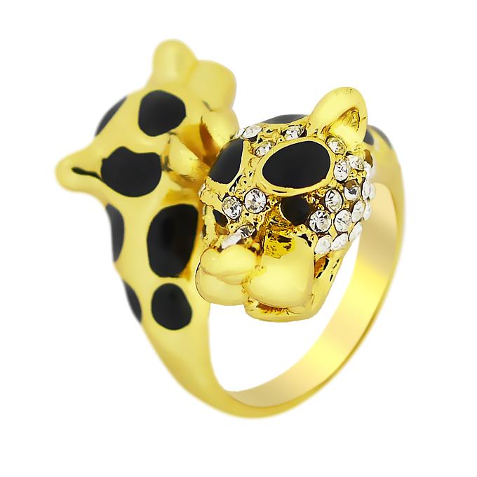 Кольцо Леопард под золото с кристаллами Сваровски. Германия оригинал (KО-030)
