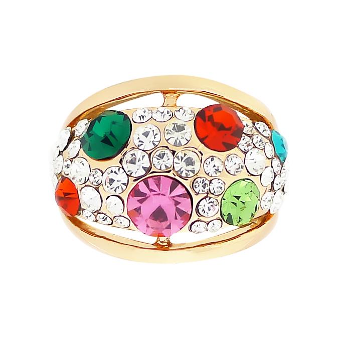 Кольцо под золото с кристаллами Сваровски. CША оригинал (KО-033)