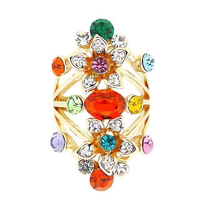 Кольцо под золото с кристаллами Сваровски. Италия оригинал (KО-035)