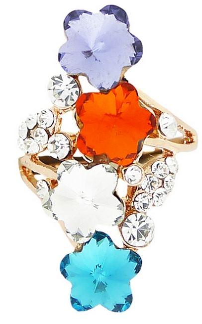 Кольцо под золото с кристаллами Сваровски. Италия оригинал  (KО-034)