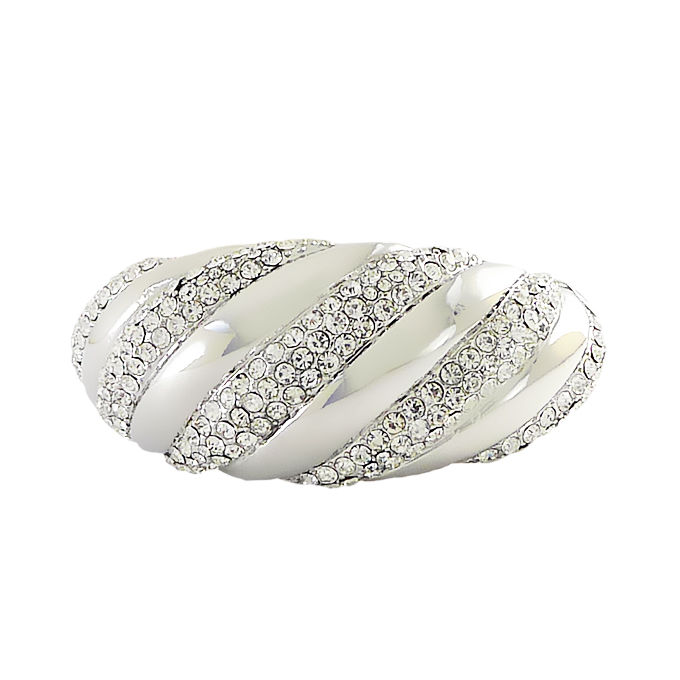 Браслет под серебро с кристаллами Swarovski. Италия оригинал (BR-027)
