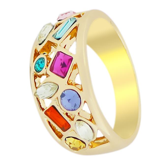 Кольцо под золото с кристаллами Сваровски. CША оригинал (KО-027)