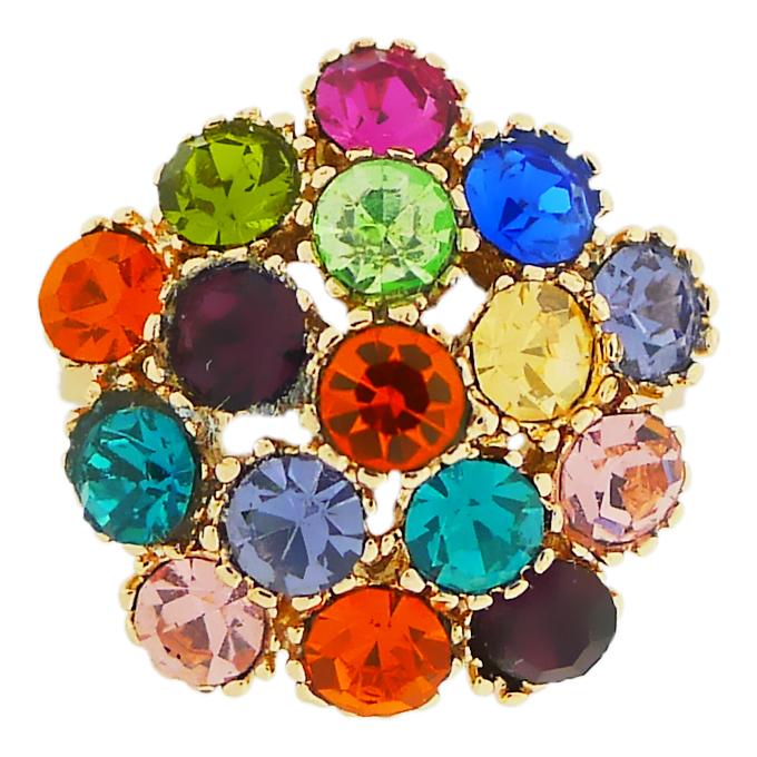 Кольцо под золото с кристаллами Сваровски. Германия оригинал (KО-029)