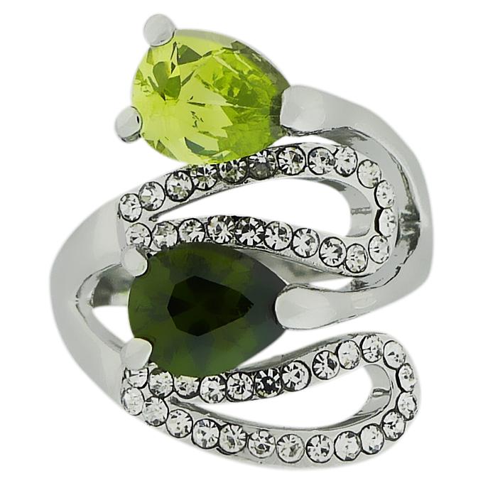 Кольцо под серебро c кристаллами Swarovski. Оригинал Германия (KО-026)