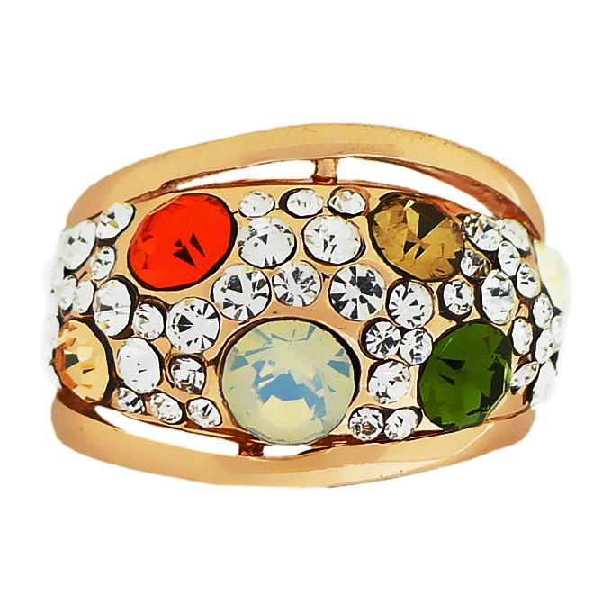 Кольцо под золото с кристаллами Swarovski. США оригинал (KО-024)