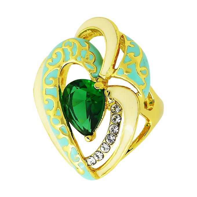 Кольцо под золото с кристаллами Swarovski. Италия оригинал (KО-016)