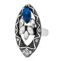 Кольцо под серебро с кристаллами Сваровски. США оригинал (KО-015)