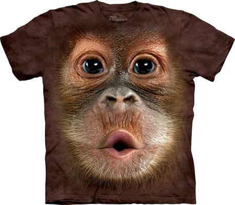 Футболка Big Face Baby Orangutan (103587)