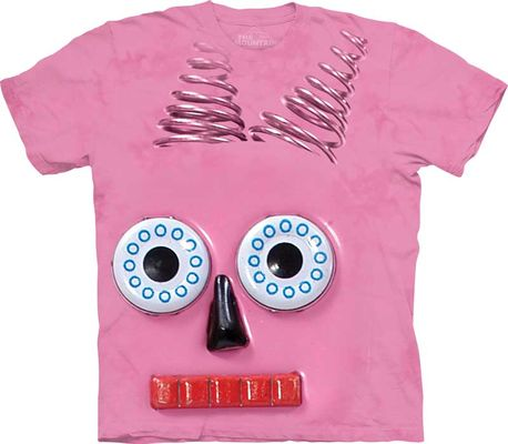 Майка Big Face Pink Robot (103625)