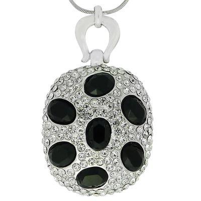Кулон Космос под серебро с кристаллами Swarovski. (K-014)