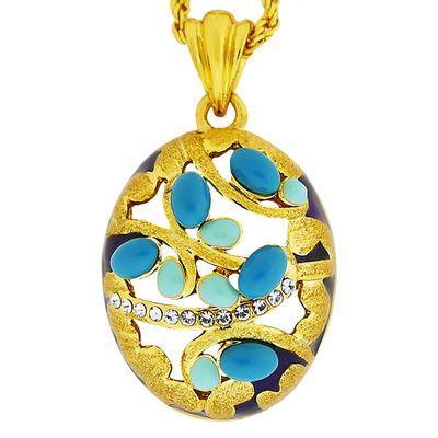 Кулон Миф под золото с кристаллами Сваровски. (K-026)